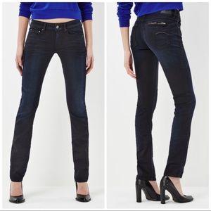 G-STAR RAW Attacc Mid Waist Straight Jeans